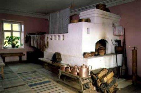 Русская печь, отопительно-варочная