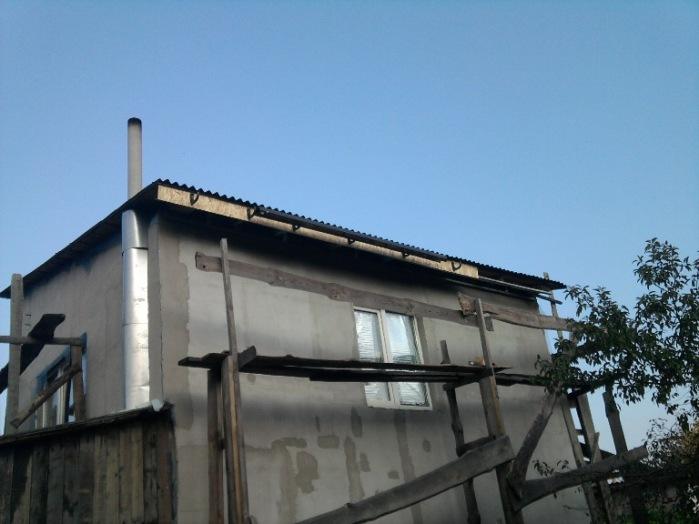 Монтаж водостоков и водослива на крыше, ветровая доска