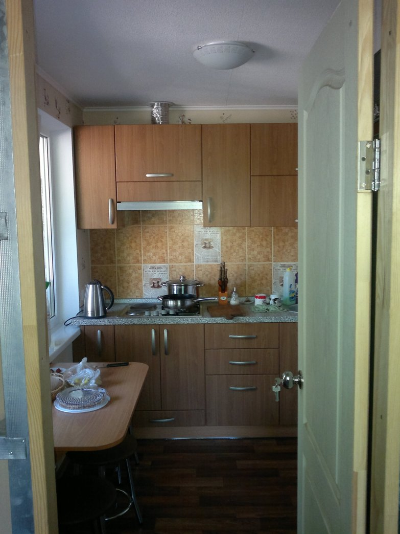 так выглядит кухня после установки