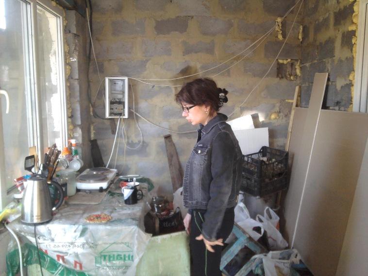 кухня перед отделкой