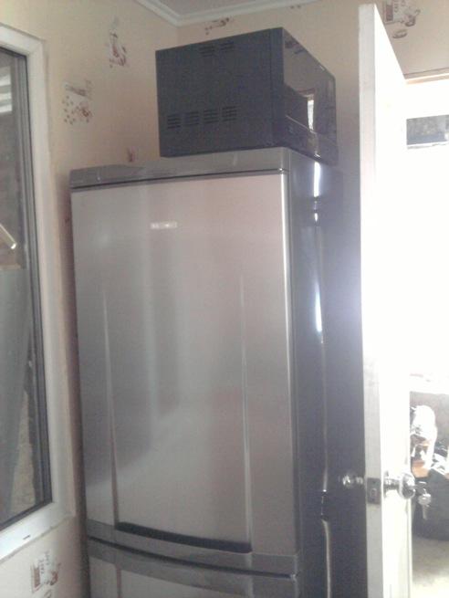холодильник и микроволновка